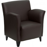 Signature Roman Series Leather Reception Chair - 2 Seat Options