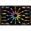 Flagship Carpets All Mixed Up Crayons Educational Rug in Black - 3 Sizes