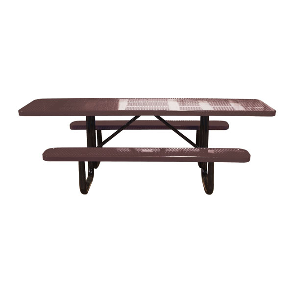 Standard Perforated Metal Portable ADA Picnic Table - Ada picnic table requirements